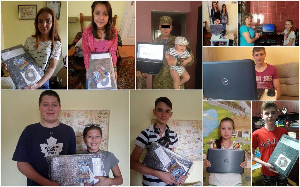 Sprawozdanie o przekazaniu laptopów osobom wytypowanym.