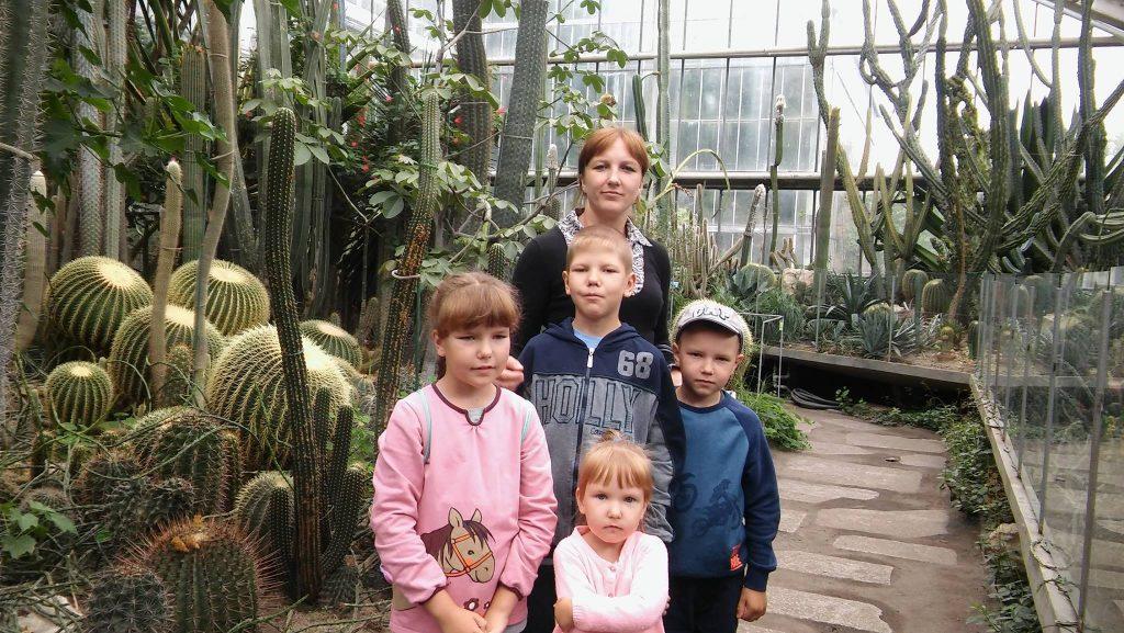 Тетяна Рупа з дітьми в Познані